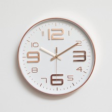 Modern Simple Wall Clocks Living Room Round Thin Box Home Decoration Wall Clock Bedroom Quiet Clock