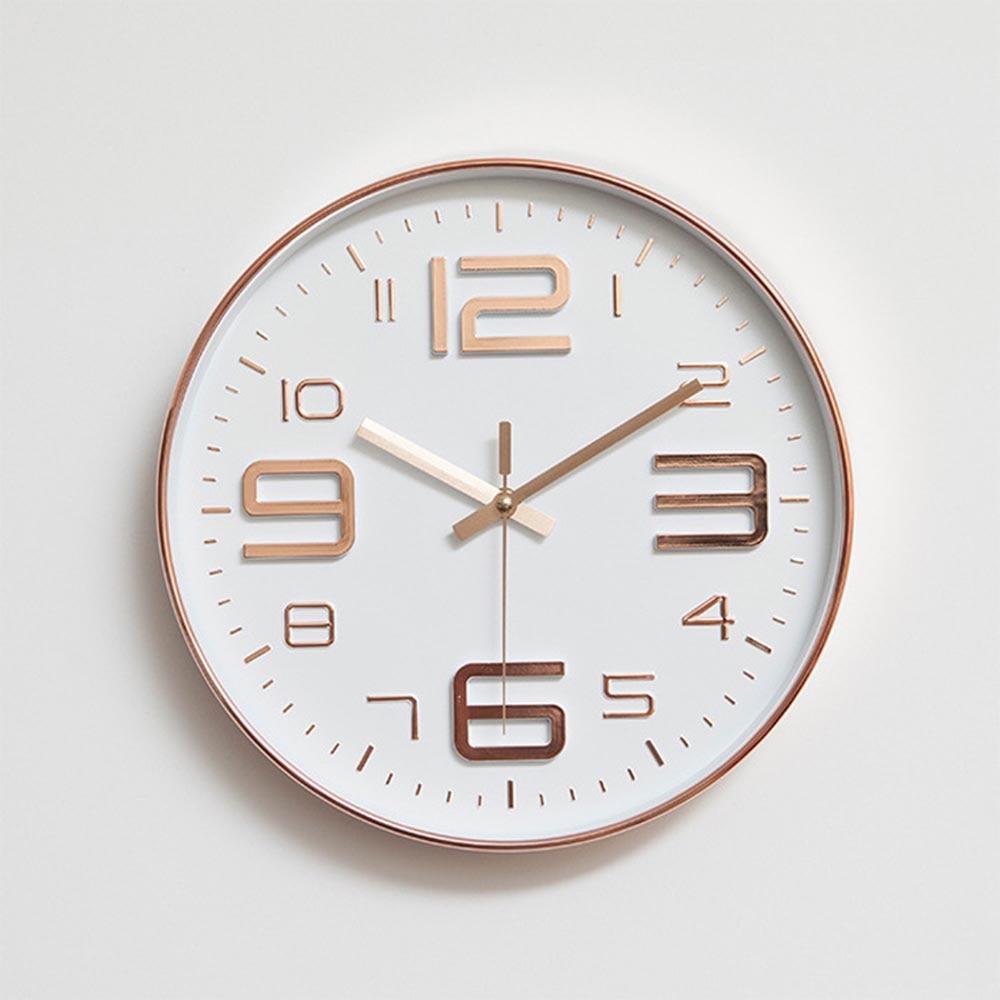 US $29.31 14% OFF|Moderne Einfache Wanduhren Wohnzimmer Runde Dünne Box  Hause Dekoration Wanduhr Schlafzimmer Ruhig Metall Uhr-in Wanduhren aus  Heim ...
