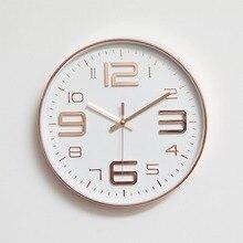 ساعة حائط عصرية بسيطة s غرفة المعيشة صندوق رقيق مستدير ديكور المنزل ساعة حائط غرفة نوم هادئة