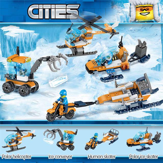US $18 87 |Kids Toy Technic Plain Blocks Compatible LegoINGLYS City Arctic  Supply Plane Scout Truck Air Transport Plane Building Bricks-in Blocks from