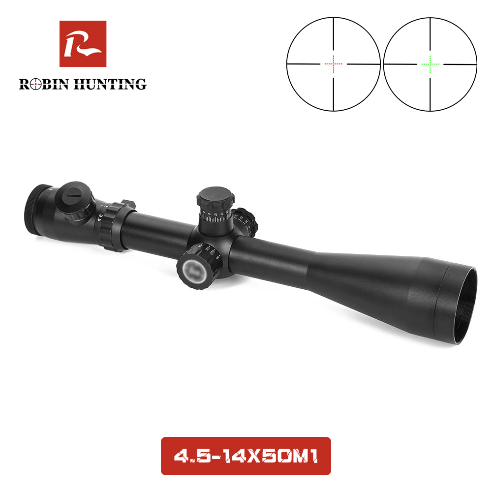 4.5-14x50 M1 High Quality Cheap Hunting Riflescope Red Green Dot Sight Adjustable Scope Fits 11mm&20mm Rail Mount4.5-14x50 M1 High Quality Cheap Hunting Riflescope Red Green Dot Sight Adjustable Scope Fits 11mm&20mm Rail Mount