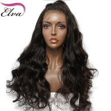 Elva Hair Glueless Lace Front Human Hair Wigs Pre Plucked Natural Hairline Body Wave Brazilian Remy Hair Natural Color 10″-26″