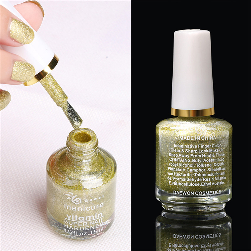 New 15ml Metallic Nail Art Polish Sands Effect Shiny Metal Gel Nail ...