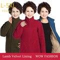 Leopardo Das Mulheres de Outono Inverno Hoodies do Velo Jaqueta de Roupas Mãe de meia idade Com Veludo Plus Size Camisolas Casaco Outerwear