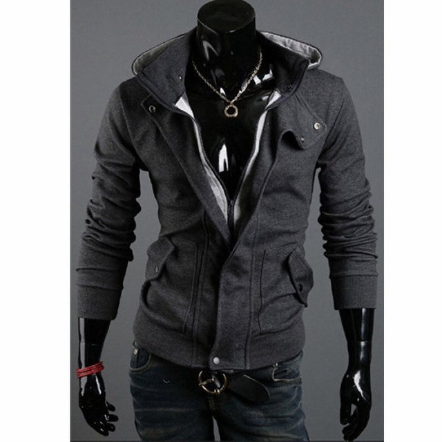 New Fashion Men's Winter Slim Zipper Hoodies Warm Hooded Sweatshirt Coat Jacket Outwear Men's Clothing Plus Size 3XL
