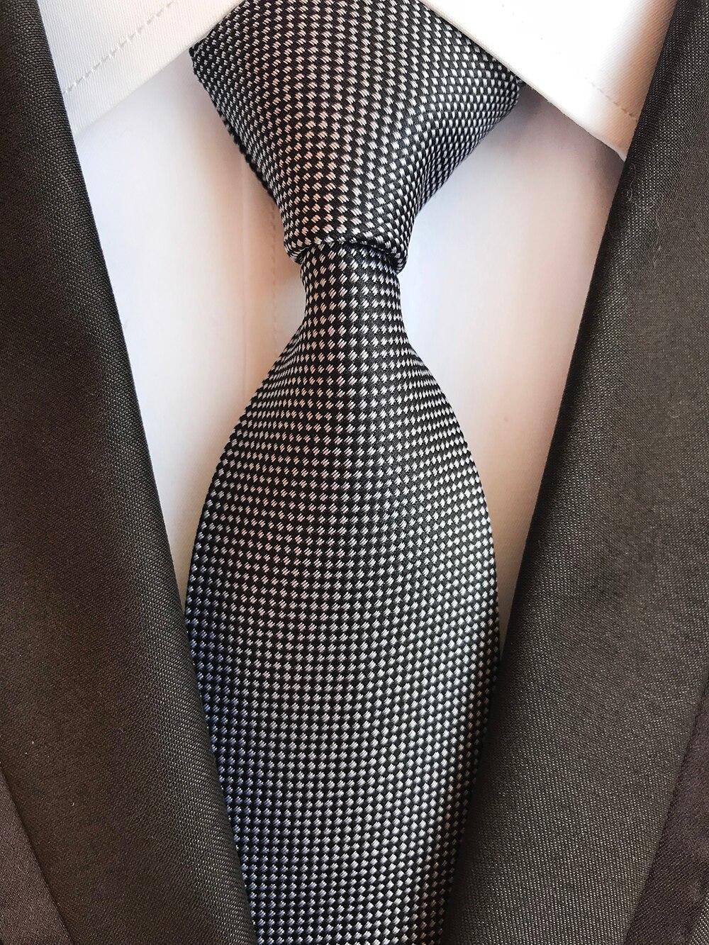 Classic 8cm Ties for Man 100% Silk Tie Luxury Striped Plaid Checks Business Neck Tie for Men Suit Cravat Wedding Party Neckties 5