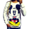 New 2015 are lovely cartoon printing quality before and after the new loose hoodies free shipping