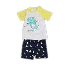 Summer Boy Pajamas New Short-sleeved Cartoon Pattern Sleeping Clothes 2-7 Years