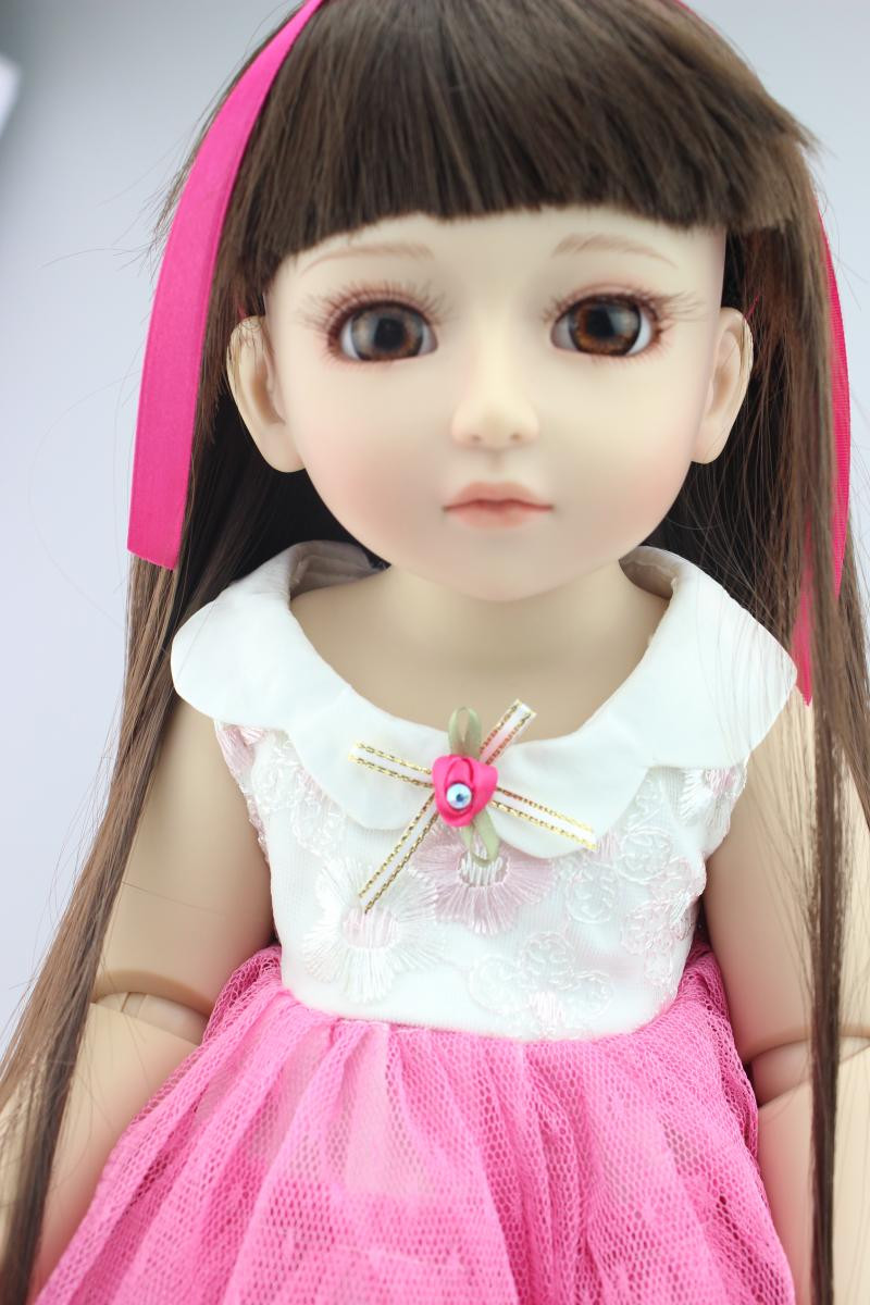 Adorable SD/ BJD Doll with Beautiful Dress,18 Inch Princess Doll Girls Doll Toys for Children Free Shipping handsome grey woolen coat belt for bjd 1 3 sd10 sd13 sd17 uncle ssdf sd luts dod dz as doll clothes cmb107