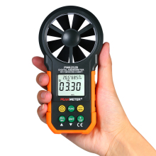 Digital Anemometer Professional Wind Speed Sensor Meter LCD Air Volume Temperature Humidity for Weather Data Collection