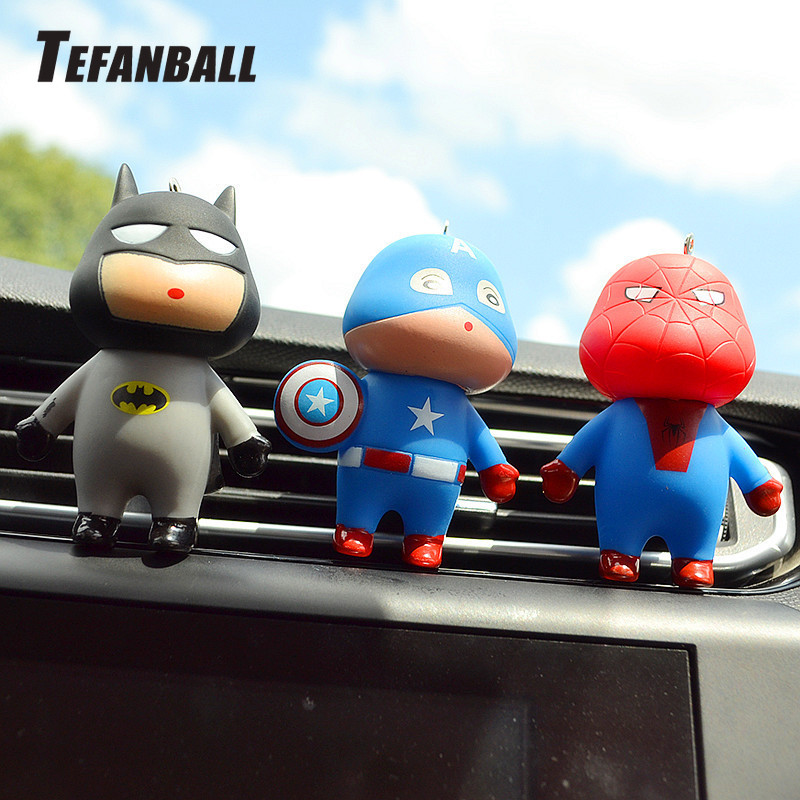 Car Air Freshener Automobiles Perfume Avengers Superhero Aromatherapy Clip Scent Diffuser Air Freshener In The Car Accessories-in Air Freshener from Automobiles & Motorcycles