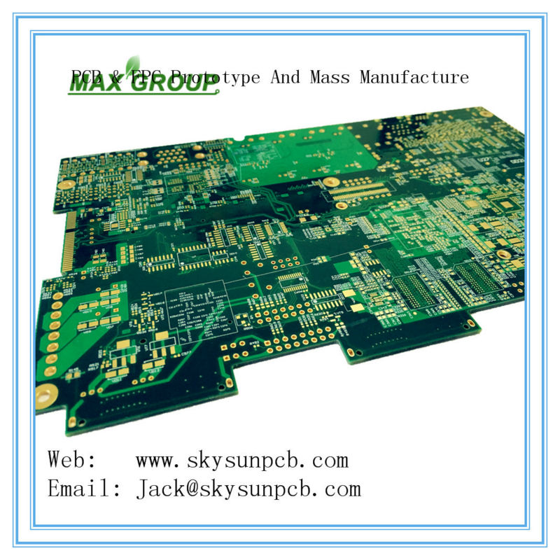 Free shipping 10pcs 6x8 cm double Side Copper prototype pcb custom pcb can Production 2-30layer HDI High-frequency High TG