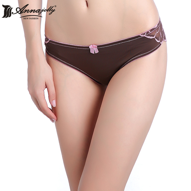 8fbc1cacd55 Annajolly G String Bikini Top Underwear Women Sexy Black Lace Thong Floral  Solid Low Waist Panties tanga with good quality 8101