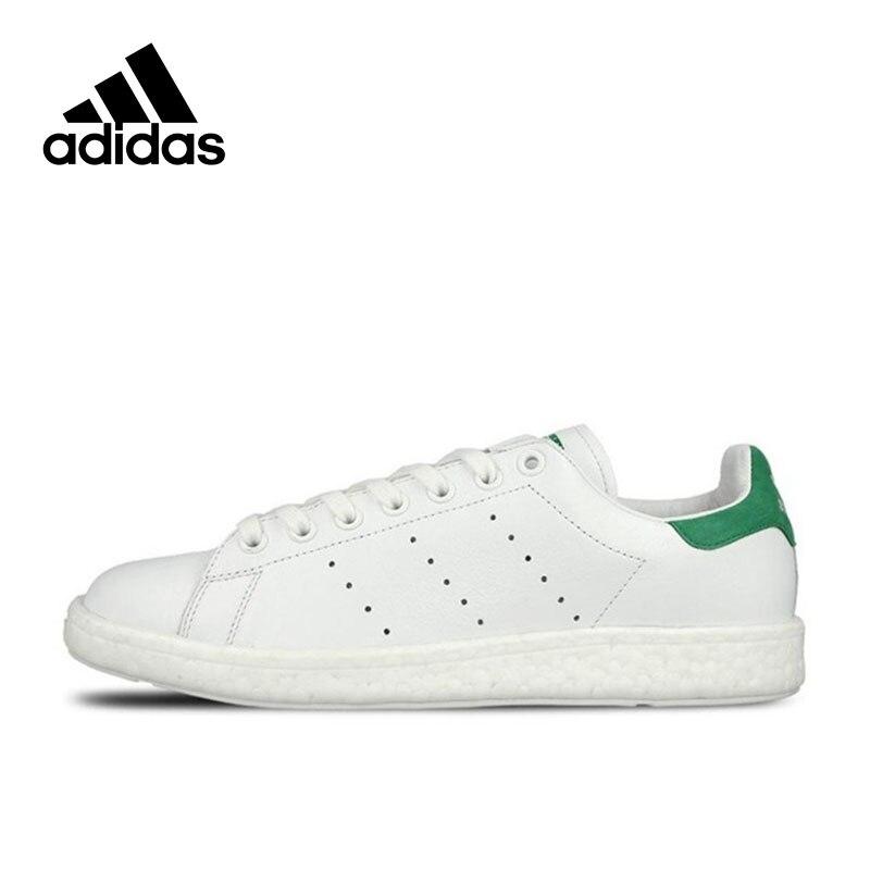Authentique Adidas Baskets Originals Classique Stan Smith Femmes Hommes Respirant Chaussures de Skate Unisexe Bas-tops Sport Sneakers