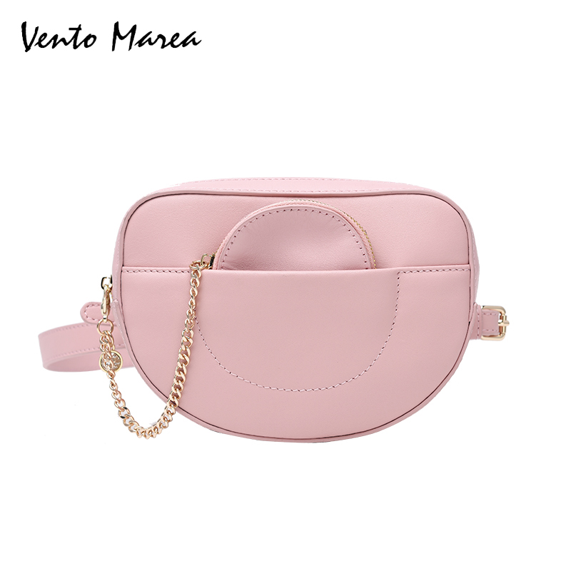 Vento Marea Fashion Genuine Leather Shoulder Bags Saddle Women Mini Messenger Bags Crossbody Ladies Bag Handbags festina часы festina 16364 6 коллекция classic