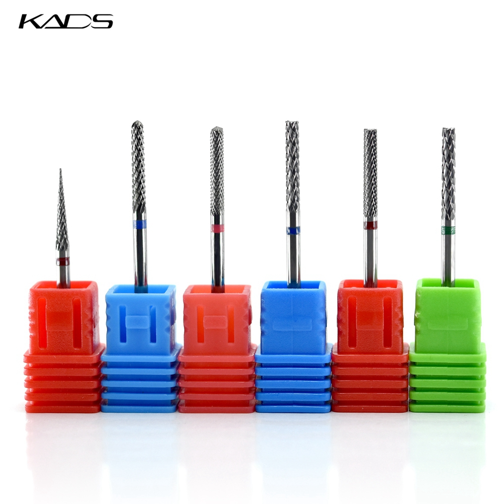 KADS 1PC Tungsten Carbide Nail Drill Bit For Electric Nail Drill Manicure Nail Accessories Tools Nail Art Drilling Machine