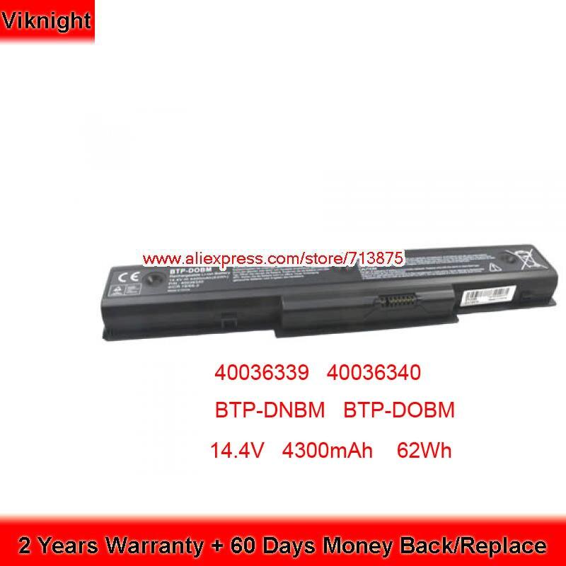 Marque Nouvelle 14.4 V 62Wh batterie d'ordinateur portable pour Medion Akoya P7812 MD 98770 40036339 40036340 BTP-DNBM BTP-DNBM BTP-DOBM