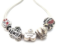 SSVWG207 5X 100% Authenticity S925 Sterling Silver Beads SilverBead Fit European Charms Bracelet diy jewelry Lampwork