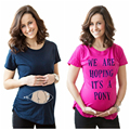 2016 Maternity Clothing New Summer Women Pregnant Shirt Funny Maternity Shirts Top Short Sleeve T-shirts M-XL