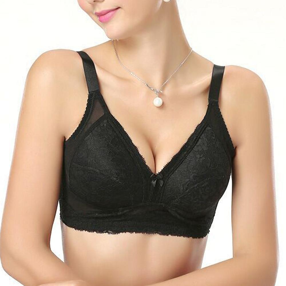 d78b33abb9 Large Bosom Womens Bra Full Support Wireless Sexy Lingerie Plus Size  Bralette Bh Crop Top A B C D DD E F Cup