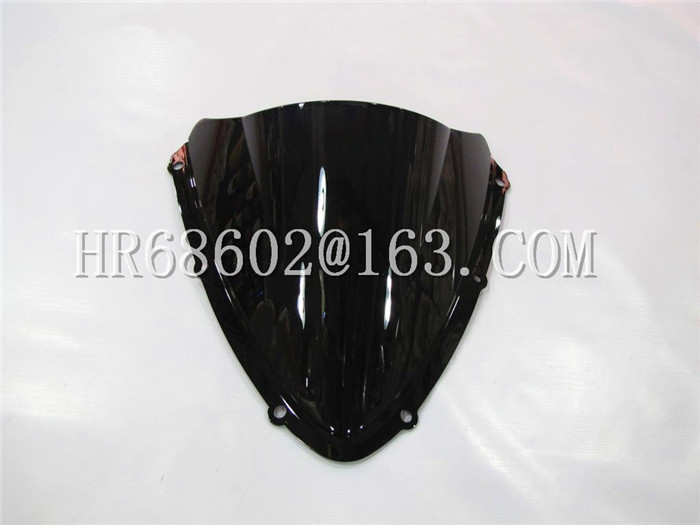 Untuk Suzuki GSXR 600 750 R gsxr600 gsxr750 600R 750R K8 2008 2009 2010 08 09 10 Black Windshield WindScreen Double Bubble