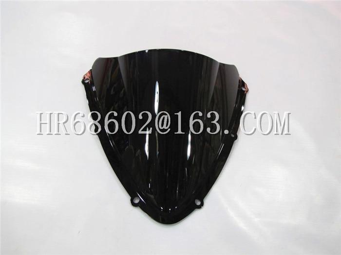For Suzuki GSXR 600 750 R Gsxr600 Gsxr750 600R 750R K8 2008 2009 2010 08 09 10 Black Windshield WindScreen Double Bubble