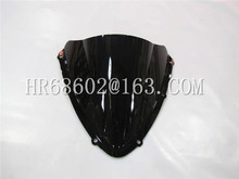 For Suzuki GSXR 600 750 R gsxr600 gsxr750 600R 750R K8 2008 2009 2010 08 09 10 Black Windshield WindScreen Double Bubble