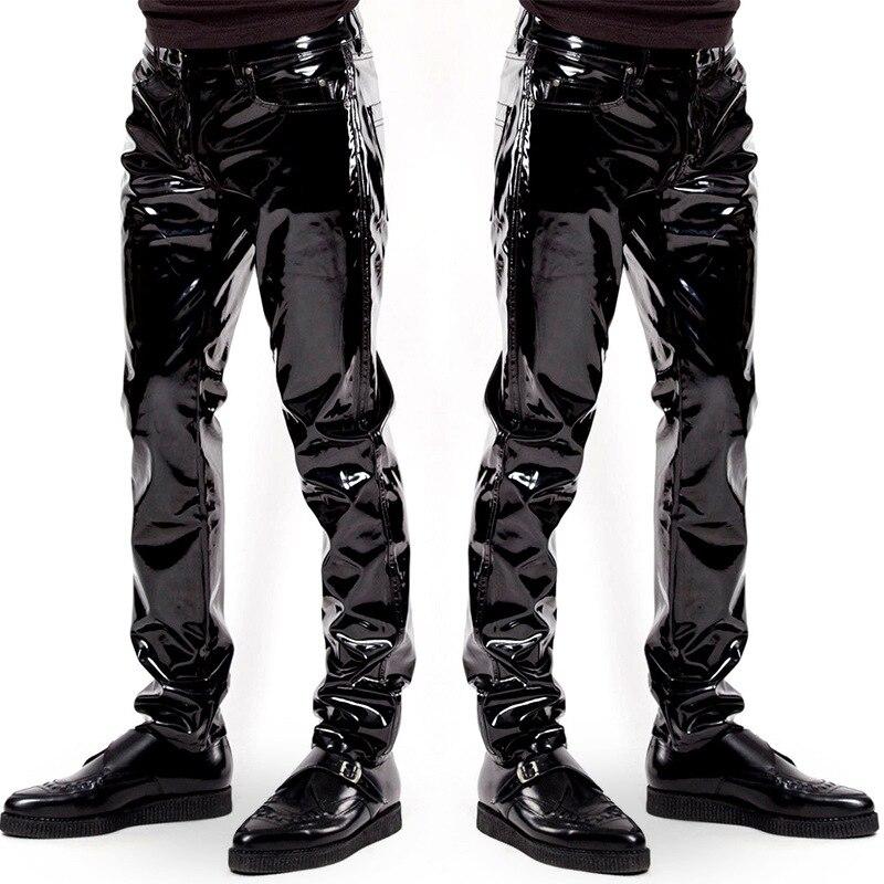Tamaño más Sexy elástico PVC brillante lápiz pantalones vaqueros ...