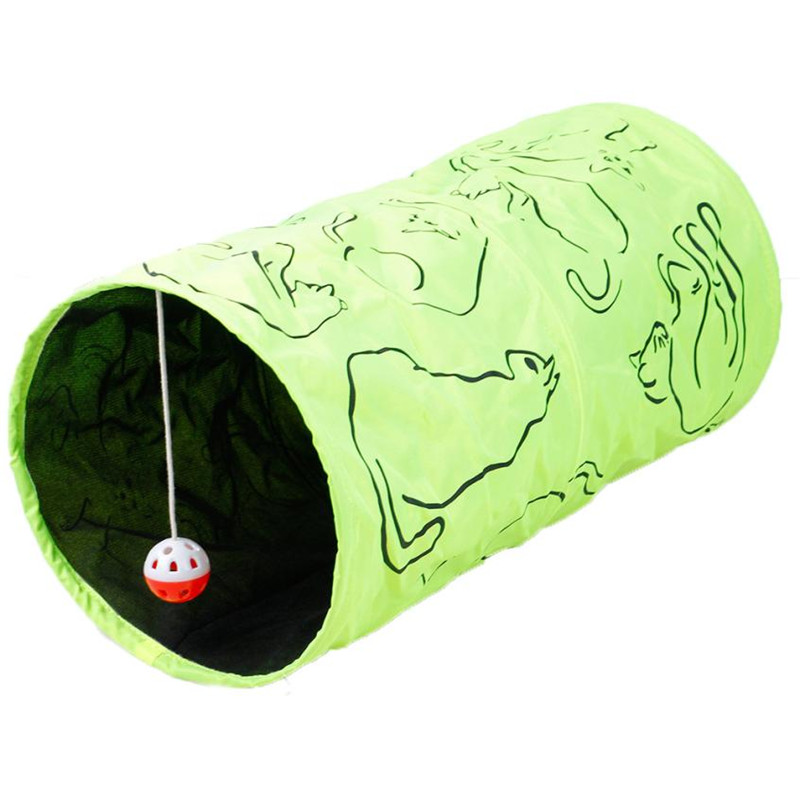 <font><b>Large</b></font> 25*50CM Pet Kitty Playing <font><b>Tunnel</b></font> Cat Print Crinkly Kitten Funny Scratch Pendant Toy Best Gift Play <font><b>Fun</b></font> <font><b>Tunnel</b></font> with Ball