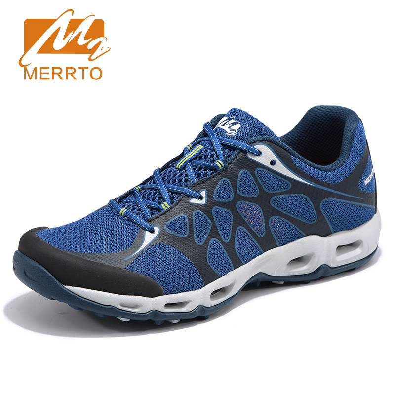 2018 Merrto Mens Trail Running Shoes Breathable Outdoor Sports Shoes Light Weight Travel Shoes For Men Free Shipping MT18652