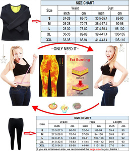 Image 5 - NINGMI ネオプレンボディシェイパーロングスリーブトップ + レギンス汗サウナ痩身女性フィットネス体形ボディニッパースリムタンクベストパンツ