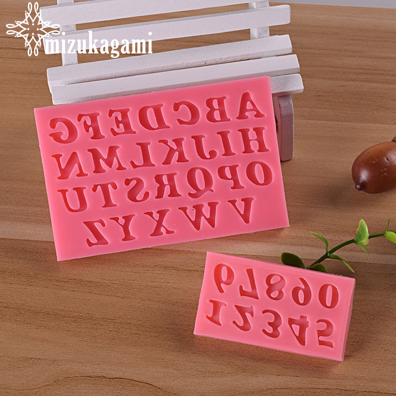 1pcs UV Resin Jewelry Liquid Silicone Mold Number English Letter Resin Molds For DIY Cake Chocolates Bake Tool Making Jewelry