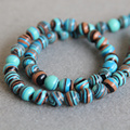 (Min Order1)8mm Fashion Natural Blue Turkey Turquoise beads Jasper stripe shape stones DIY beads 15inch Jewelry making design