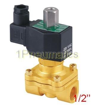 """1/"""" Нормально открытый латунный электромагнитный клапан 2W160-15-NO DC12V, DC24V, AC110V или AC220V"""