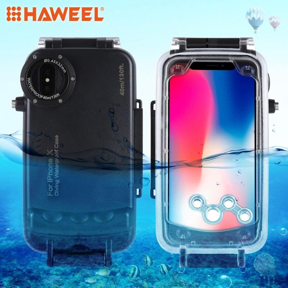 HAWEEL Diving Housing For iPhone XS 7/8 7/8plus Case 40M