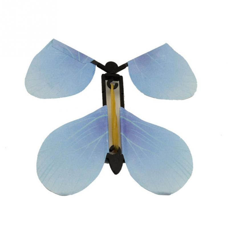 5PCS Funny Tricks Classic Prank plastic butterfly props Cute Children Flying Butterfly Transmission Magic Prop