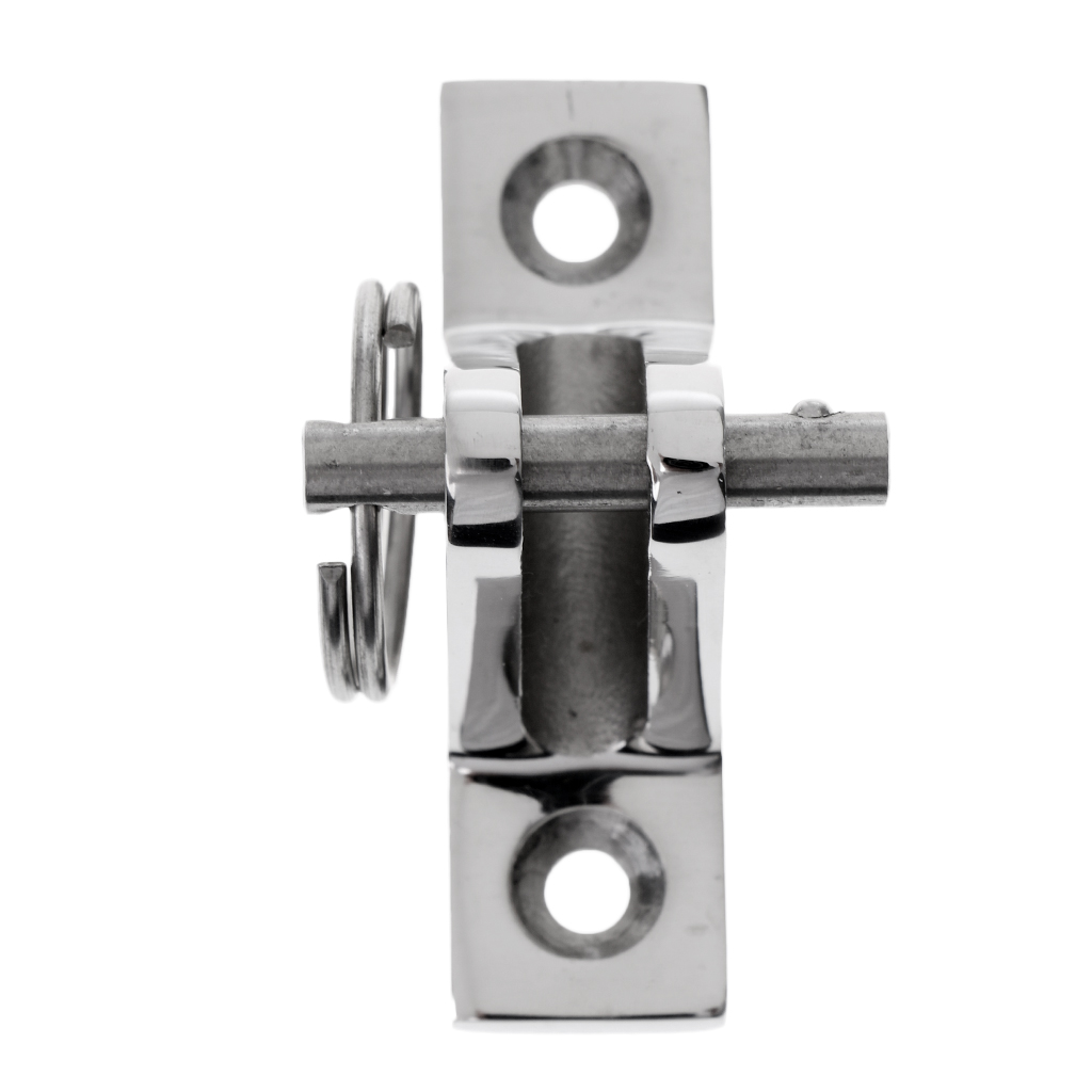 1 Pcs 316 Stainless Bimini Boat Top Deck Hinge Fitting & Screws Quick Release Pin
