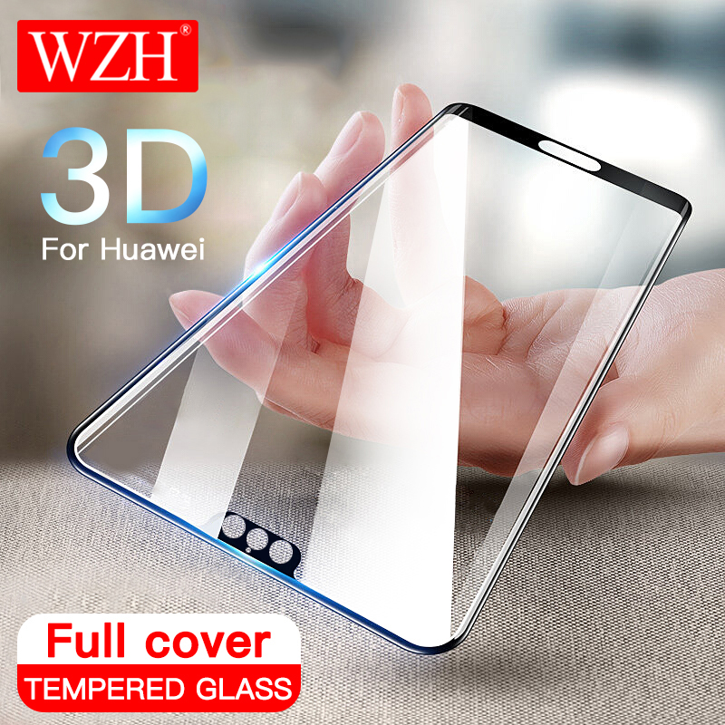 3D Full Cover <font><b>Tempered</b></font> <font><b>Glass</b></font> For Huawei P20 <font><b>Pro</b></font> P10 Lite Plus Screen Protector For Huawei P20 <font><b>Honor</b></font> 9 Lite 10 Protective <font><b>Glass</b></font> image