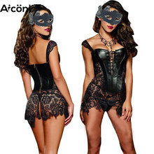 Corset sexy Women Bustier Steampunk corset dress gothic leather Corset Slimming Intimacy gothic clothes Burlesque bustier sexy(China)