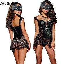 cinta modeladora para cintura emagrecimento corretor de postura Mulheres sexy espartilho Bustier vestido corset Steampunk gótico Espartilho de couro Emagrecimento Intimidade roupas góticas Burlesque bustier sexy