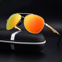 2017 New Best Seller Classical Brand Mens Pilot Colorful Mirror Sun Glasses Fashion Polarized Sunglasses Oculos Gafas Eyewear