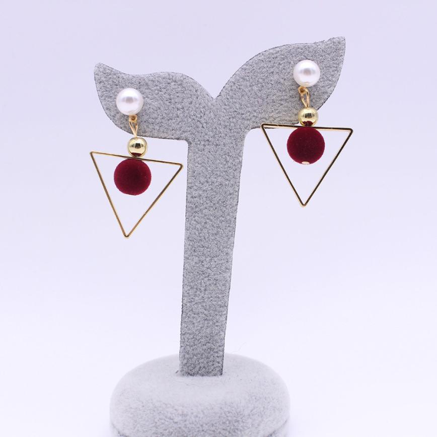 OTOKY Dangle Earrings 2018 Geometric Hollow Metal Jewelry Pendientes colgantes Bride Round Earrings dangle Brincos Jan02