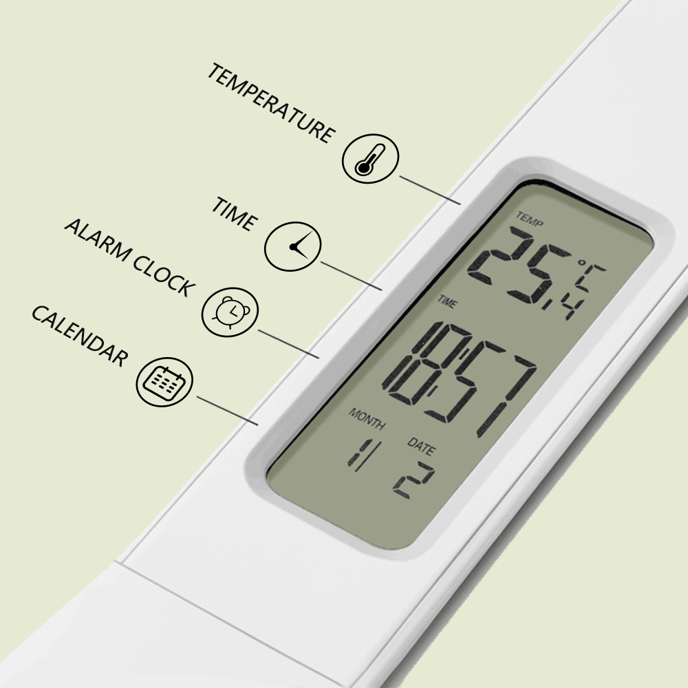 LED Desk Lamp Foldable Dimmable Touch Table Lamp with Calendar Temperature Alarm Clock table Light night lights LAOPAO 6