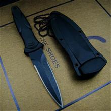 440 stalowe kieszonkowe noże taktyczne ostrze stałe nóż Survival narzędzia ratownicze noże myśliwskie polowanie walki sprzęt turystyczny + naszyjnik tanie tanio Maszyny do obróbki drewna Fixed blade knife B-xzd23 EVERRICH 440Steel ABS Plastic