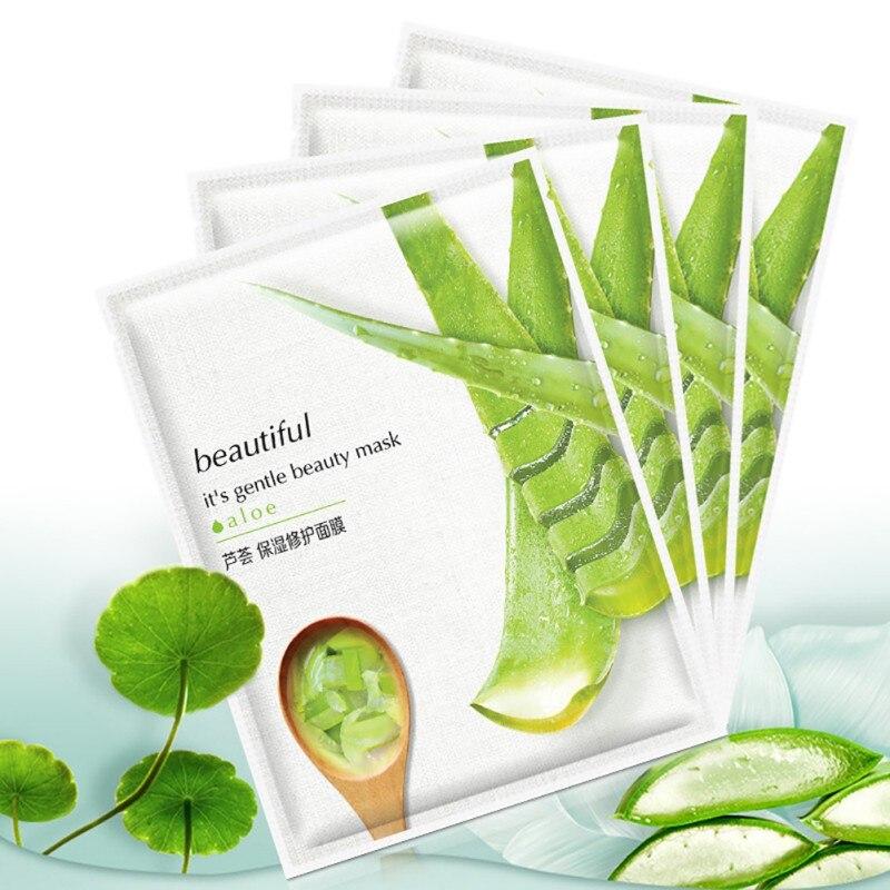 10 stücke Natürliche Aloe Vera Moisturizing Oberfläche Bleaching Ort Film Schrumpfen Poren Aloe Vera Hautpflege Heiße