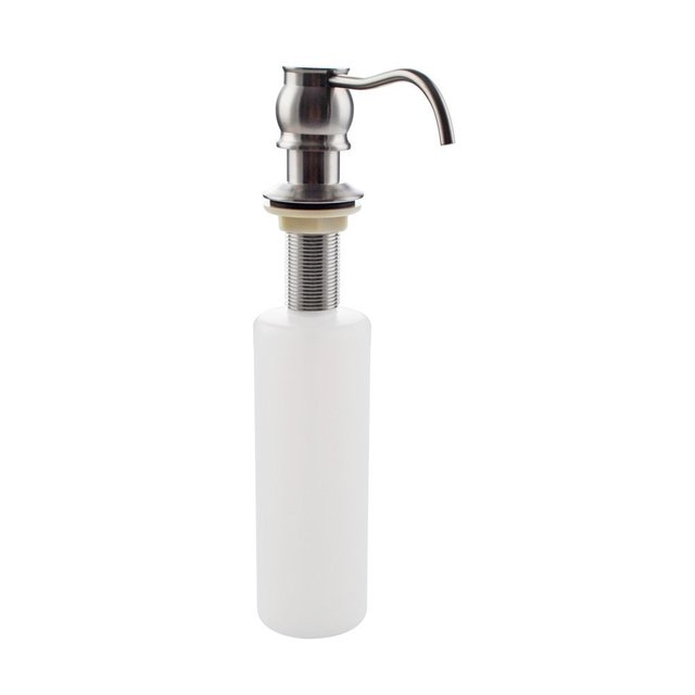 Brushed Nickel Kitchen Sink Lotionsoap Dispenser With Brass Pump