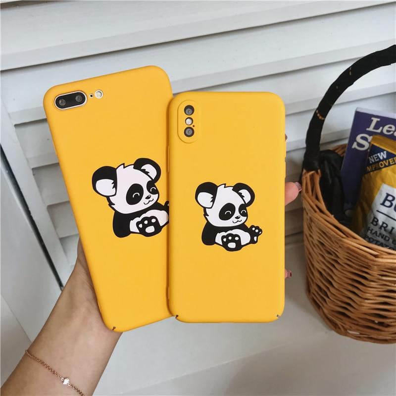 Genial Neue Nette Panda Hard Telefon Fällen Für Iphone X 6 6 S 6 Plus 7 7 Plus Matte Hartplastik Fall Für Iphone 8 8 Plus Zurück Abdeckung Angepasste Hüllen