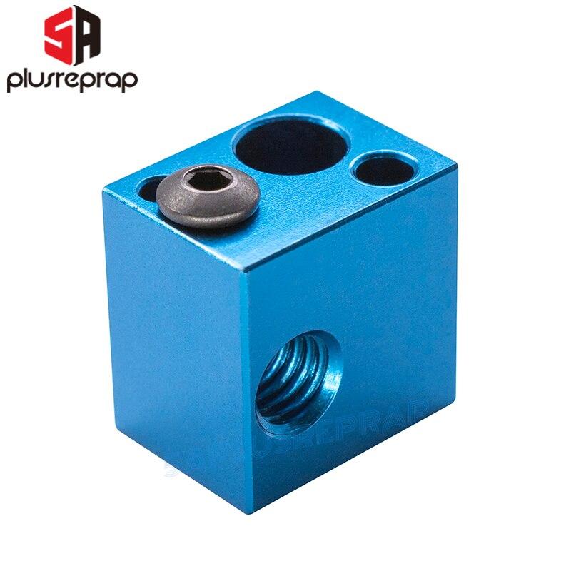 3D Printer Aluminum Block 16*16*12mm For Thermistor HT-NTC100K Thermocouple V5 V6 J-head Hotend Extruder