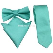Yibei Coachella Галстуки одноцветные Мятные бирюзовые зеленые одноцветные 6 см Для худой шеи галстуки 8,5 см официальные Галстуки карманные квадратные галстуки-бабочки
