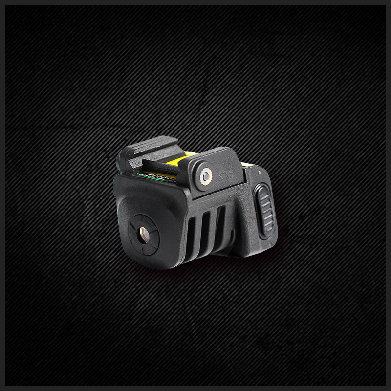 Windage & elevation adjustable green laser sight for subcompact pistol